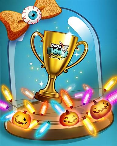 Haunted Trophy Badge - Pogo Daily Sudoku