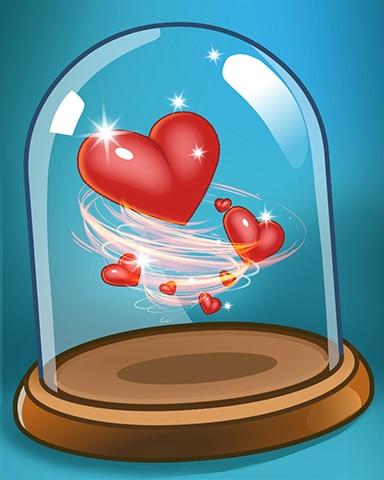 Spinning Hearts Badge - Pogo Daily Sudoku