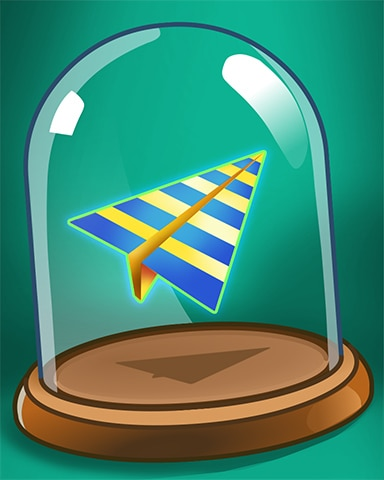 Parchment Airplane Badge - Pogo™ Slots