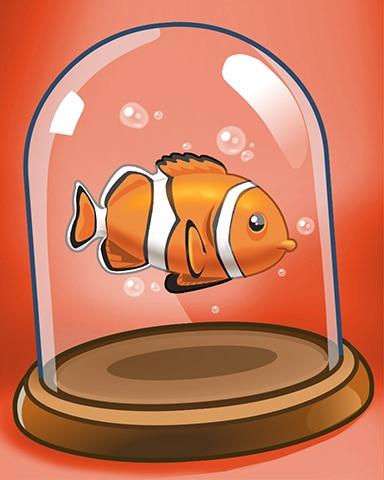 Bubbly Clown Badge - Quinn's Aquarium