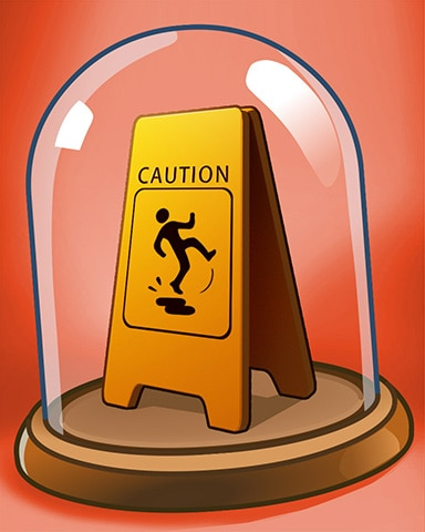 Don't Slip Badge - Quinn's Aquarium