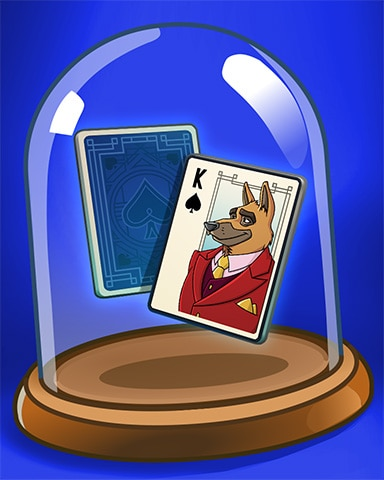 King Of Dogs Badge - Spades HD