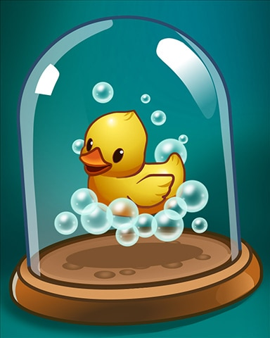 Bubbly Duckling Badge - Solitaire Blitz