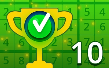 Weekly Special 10 Easy Badge - Pogo Daily Sudoku