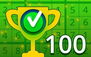 Weekly Special 100 Easy Badge - Pogo Daily Sudoku