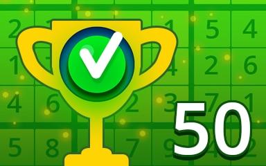 Weekly Special 50 Easy Badge - Pogo Daily Sudoku