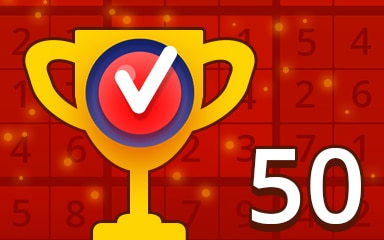 Weekly Special 50 Hard Badge - Pogo Daily Sudoku