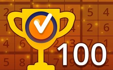 Weekly Special 100 Medium Badge - Pogo Daily Sudoku