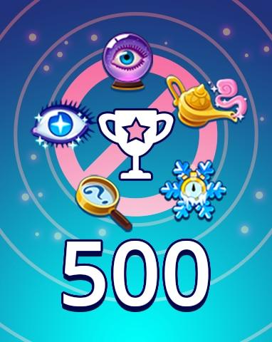 No Power-ups Weekly Special 500 Badge - Pogo Daily Sudoku