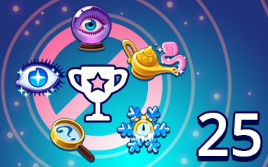 No Power-ups Weekly Special 25 Badge - Pogo Daily Sudoku