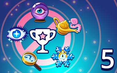 No Power-ups Weekly Special 5 Badge - Pogo Daily Sudoku