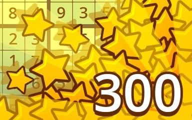 Stars Weekly Special 300 Badge - Pogo Daily Sudoku