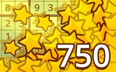 Stars Weekly Special 750 Badge - Pogo Daily Sudoku