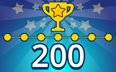 Weekly Special Puzzle 200 Badge - Pogo Daily Sudoku
