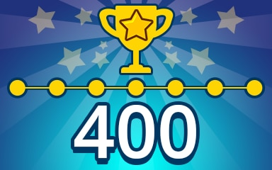 Weekly Special Puzzle 400 Badge - Pogo Daily Sudoku